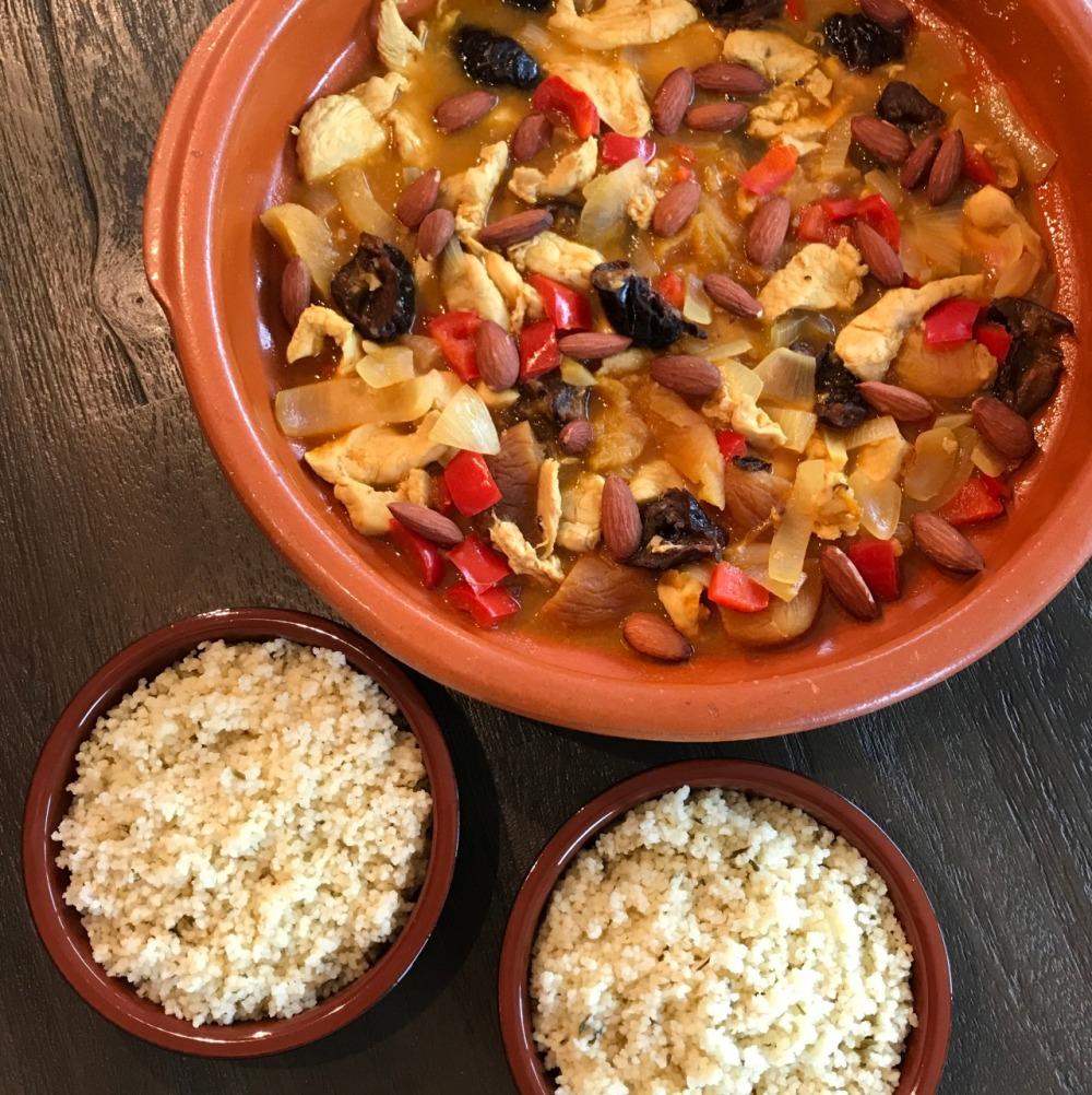 Hoe maak je Marokkaanse tajine met kip en gedroogde vruchten ?