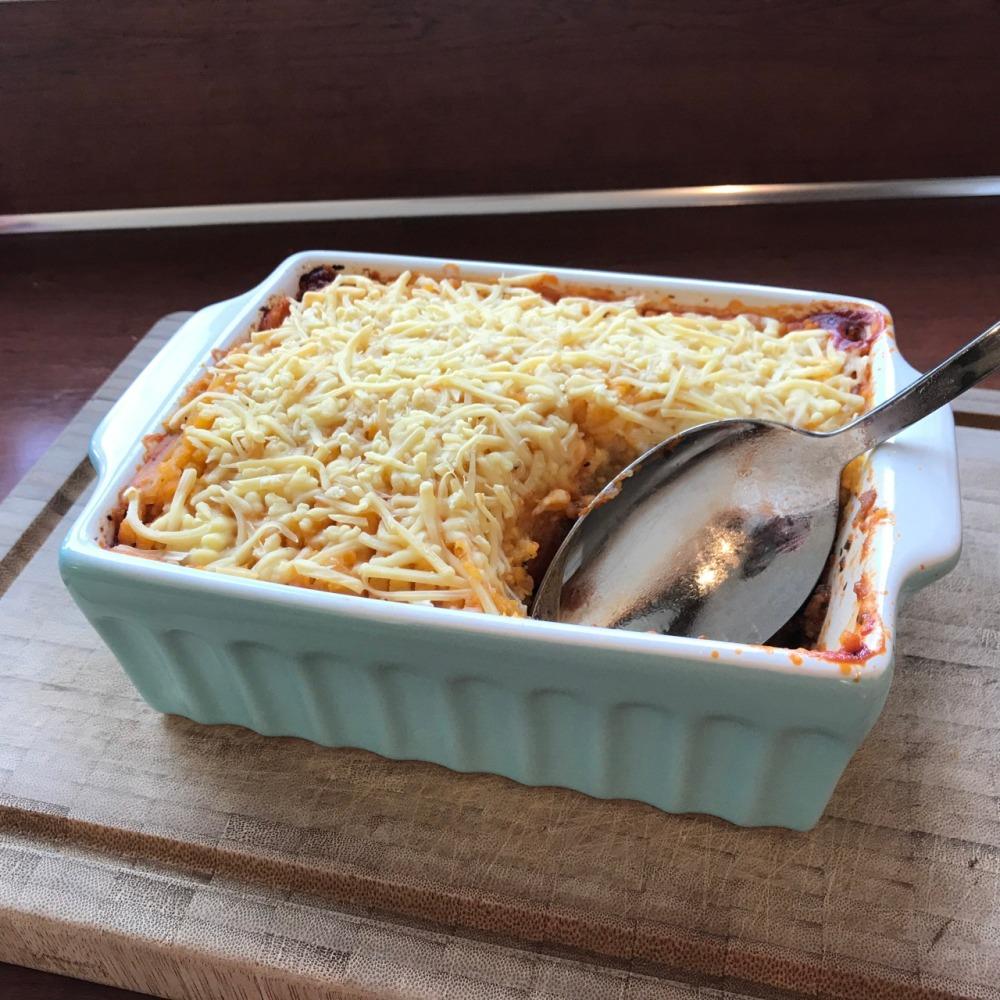 hoe maak je Ovenschotel met zoete aardappel en gehakt